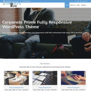 Corporate Prime Free WordPress Theme | Themescorners Themes