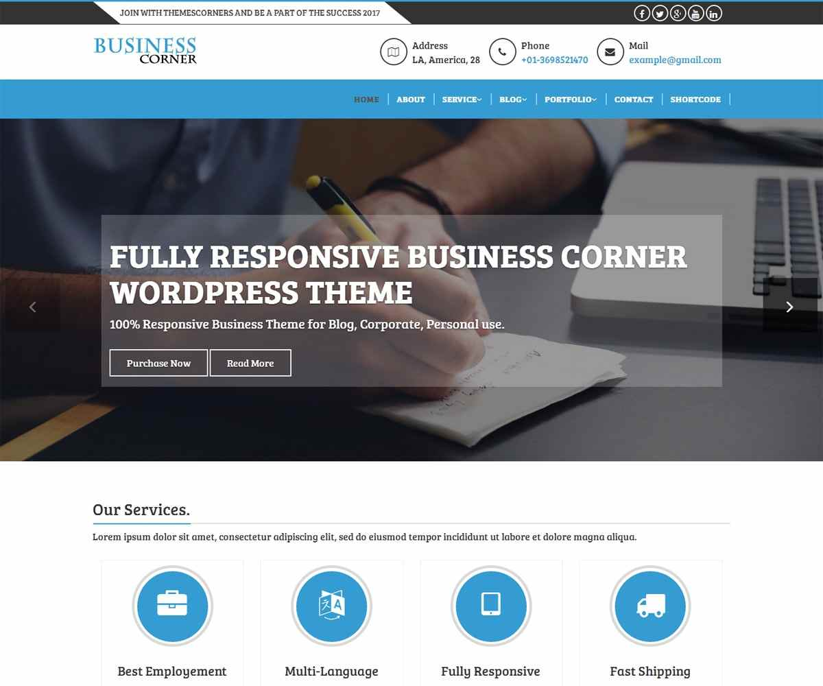 Business Corner Pro Theme - Themescorners Free and Pro Themes