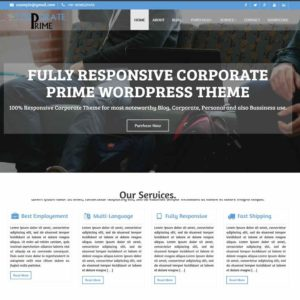 Corporate Prime Premium Theme – WordPress Theme – Themescorners