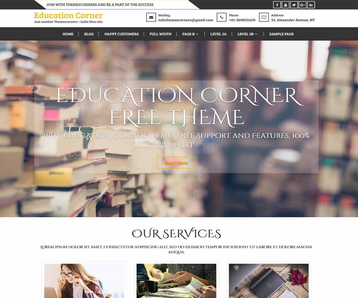 Education Corner | Blog Theme | Education Theme | Themescorners